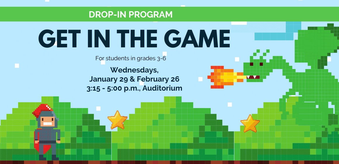 1/29 - Get in the Game!