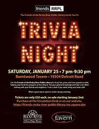 1/25 - Friends Trivia Night