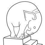 Cowan Coloring pages - Elephant by Margaret Postgate