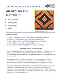 Air Dry Clay Tiles