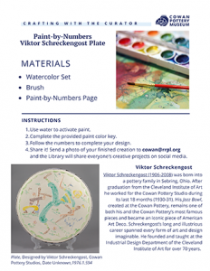 white plate with paint brushes and paint pallete